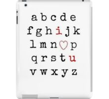 Alphabet I Love You iPad Case/Skin