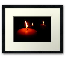 A Candle to Three Framed Print