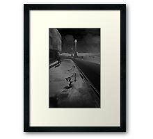 The Thames Embankment, Solarised, Framed Print