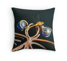 Double Dragonfly Throw Pillow
