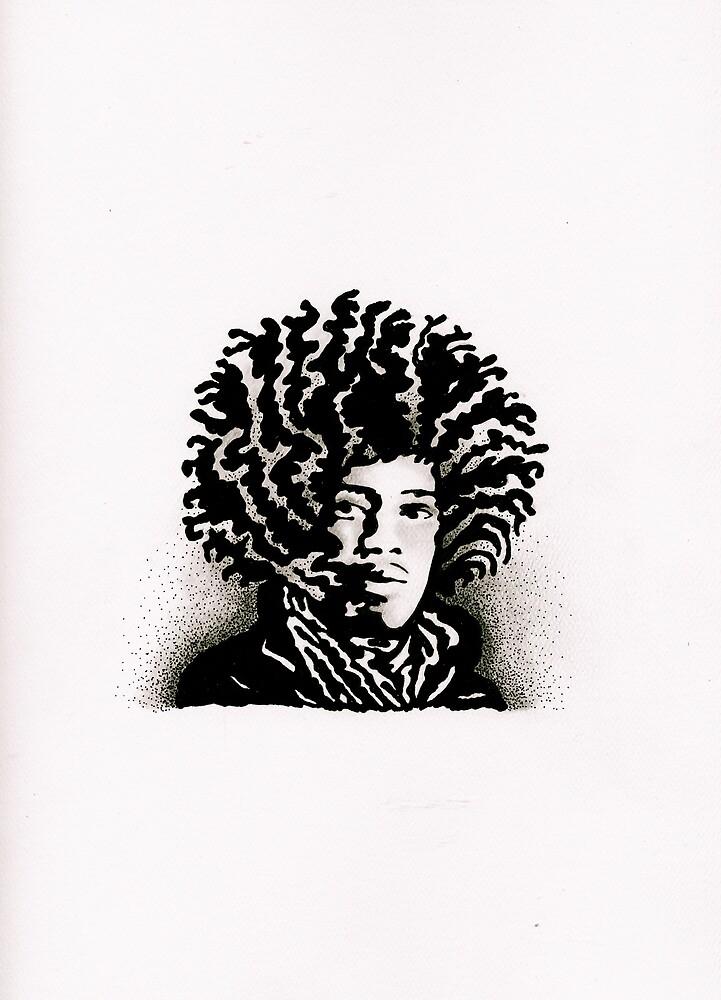 Jimi Hendrix by Erin Hammill