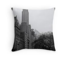Dark Tree and Tower Throw Pillow