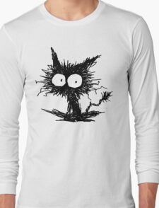 Black Unkempt Kitten GabiGabi Long Sleeve T-Shirt