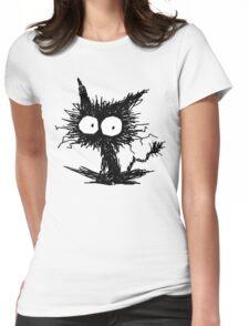 Black Unkempt Kitten GabiGabi Womens Fitted T-Shirt