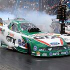 Ashley Force burnout by racefan24
