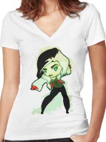 OUAT - Cruella Women's Fitted V-Neck T-Shirt