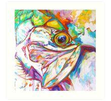 Tarpon Dreams - Colorist Marine Wildlife Painting By Savlen Art Print