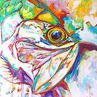 Tarpon Dreams - Colorist Marine Wildlife Painting By Savlen by Mike Savlen