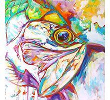 Tarpon Dreams - Colorist Marine Wildlife Painting By Savlen Photographic Print