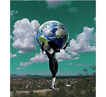 Weight of the world Photographic Print
