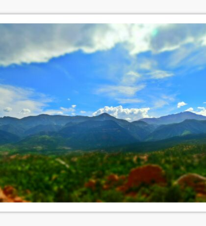 View from Garden of the Gods Sticker
