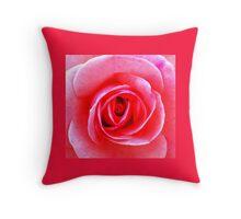 Hot Pink Rose Throw Pillow
