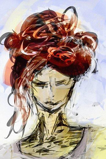 abstract portrait #1 by James Suret