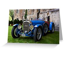 French Racing Blue Greeting Card