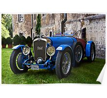 French Racing Blue Poster