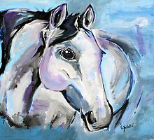 I Am A Vision - Horse Art by Valentina Miletic by Valentina Miletic