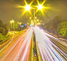 A busy Delhi Road in HDR- the other side of it! by Vinay Rathore