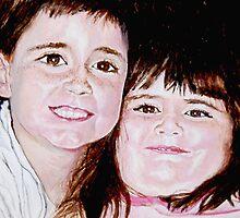 Joe and Jamie - Children's Portrait by Jim Parker