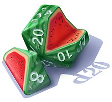 Diced Watermelon by Shaun Ellis