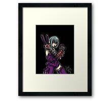 Grape Ninja Framed Print