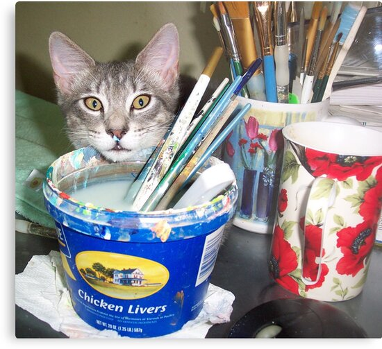 Mimi, the Painter.... Assistant  by Mary Sedici