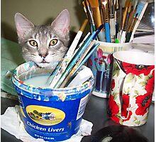 Mimi, the Painter.... Assistant  Photographic Print