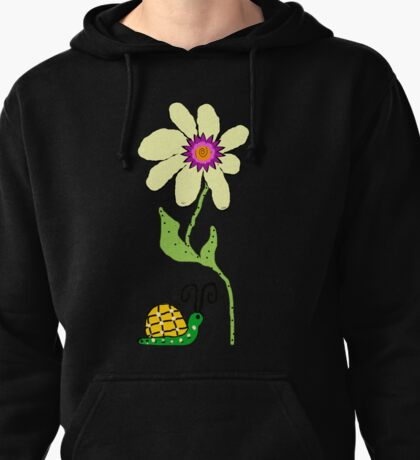 Friends the  Little Snail and Big Flower Pullover Hoodie