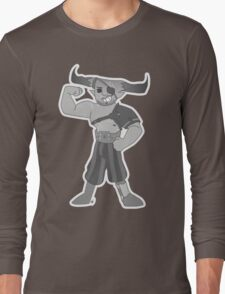 Vintage cartoon Iron Bull Long Sleeve T-Shirt