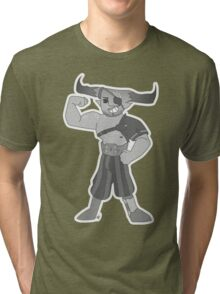 Vintage cartoon Iron Bull Tri-blend T-Shirt