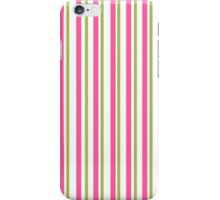 Girly Pink and Green Stripes iPhone Case/Skin