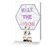 Moon Walking Is Hard Greeting Card
