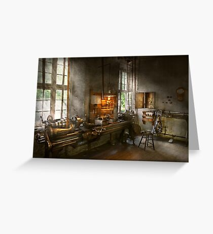 Machinist - Lathes Greeting Card