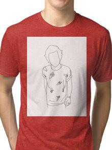 Harry Styles Hands White/Black Tri-blend T-Shirt