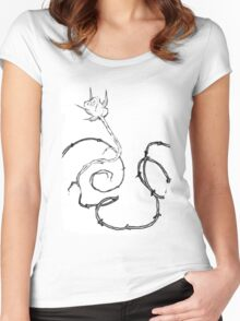 Thorned Beauty Women's Fitted Scoop T-Shirt