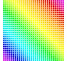 Rainbow Dots Photographic Print