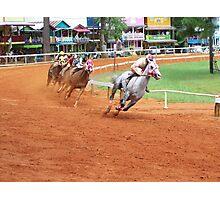Quarter Horse Racing at the Neshoba County Fair  Photographic Print