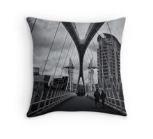 Silent witness to the commerce of Empire Throw Pillow