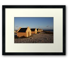 Red Slave Huts Framed Print