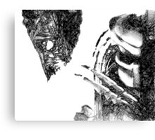 Alien Vs Predator Drawing Canvas Print