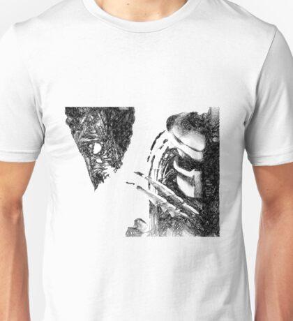 Alien Vs Predator Drawing Unisex T-Shirt