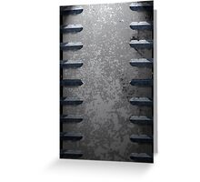 Metal railings and stone texture Greeting Card