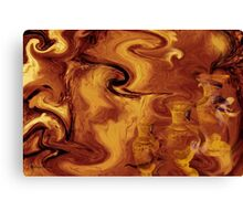 Golden brown- Wall Art Abstract-19  Art + Products Design  Canvas Print
