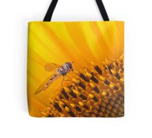 Hover fly on a Sunflower Tote Bag
