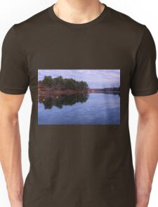 Early morning at the lake Unisex T-Shirt