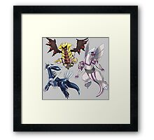 pokemon diagla palkia giratine anime manga shirt Framed Print