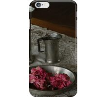 Pewter and faded roses iPhone Case/Skin
