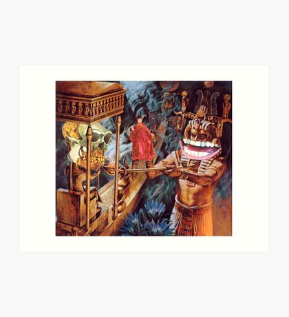 M Blackwell - Appeasing the MonkeyGod... Art Print