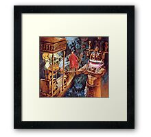 M Blackwell - Appeasing the MonkeyGod... Framed Print