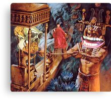 M Blackwell - Appeasing the MonkeyGod... Canvas Print