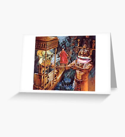 M Blackwell - Appeasing the MonkeyGod... Greeting Card